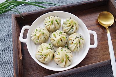 韭菜三鲜生煎包