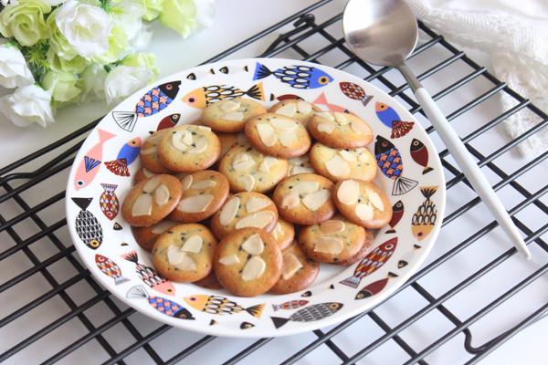 不用黄油不用打发的黑芝麻薄脆饼干的做法