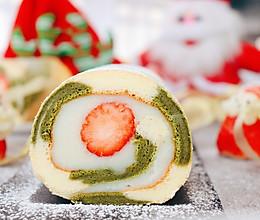 宝宝甜品 圣诞草莓蛋糕卷的做法