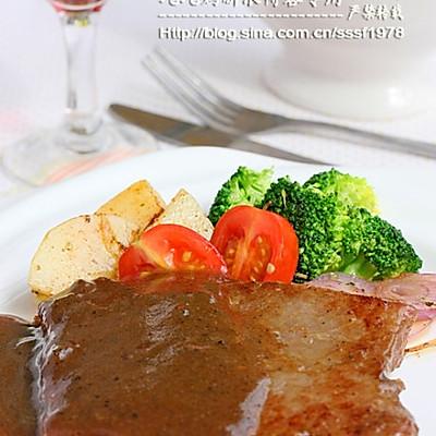 法式黑椒牛排