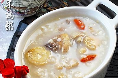 速缓感冒恢复体能:沙参糙米鸡肉粥
