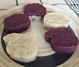 喜羊羊、美羊羊紫薯山药糕的做法