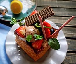 蜂蜜草莓厚多士的做法