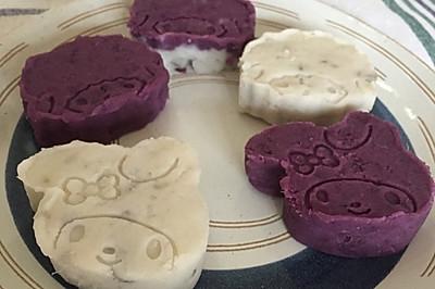 喜羊羊、美羊羊紫薯山药糕