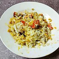 #快手又营养,我家的冬日必备菜品#咖喱真蟹黄豆腐的做法图解4