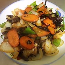 家常小炒之五花肉茶树菇