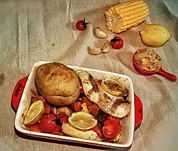 鸡胸肉烤时蔬的做法