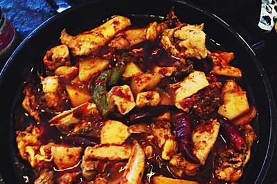 麻辣烧鸡(烧鸡公)