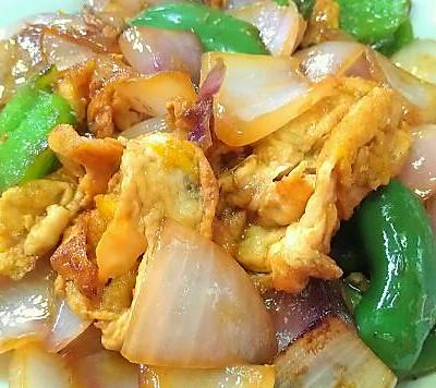 简单初学健康营养…鸡蛋洋葱青椒结合的美味…素食下饭菜首选
