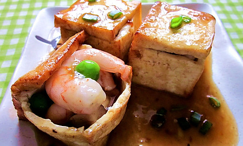 三鲜豆腐盒的做法