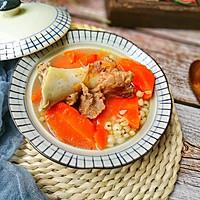 健脾又祛湿的薏米胡萝卜筒骨汤的做法图解7