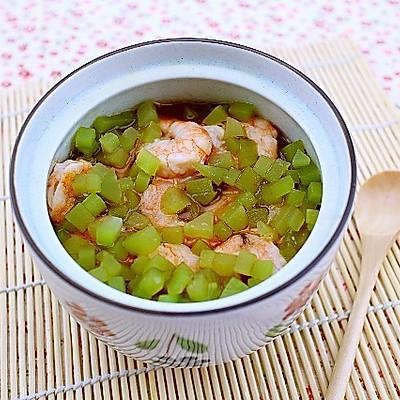 鲜虾莴笋蒸蛋