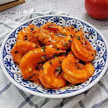 茄汁大虾#520,美食撩动TA的心!#