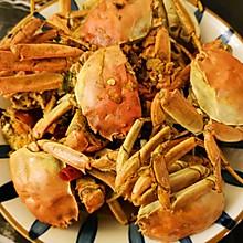 用河蟹做的香辣蟹,味道竟然超级棒