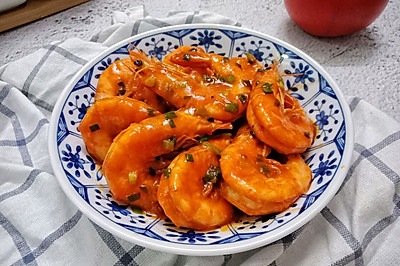 茄汁大蝦#520,美食撩動TA的心!#