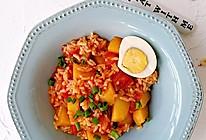 酸甜开胃的番茄土豆烩饭的做法