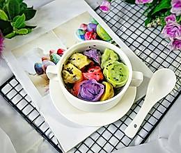 #快手又营养,我家的冬日必备菜品#彩色素饺的做法