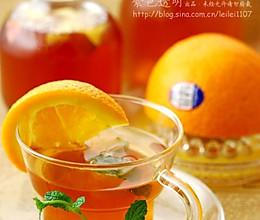 鲜橙冰薄荷果茶的做法