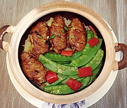 鸡翅荷兰豆煲仔饭的做法