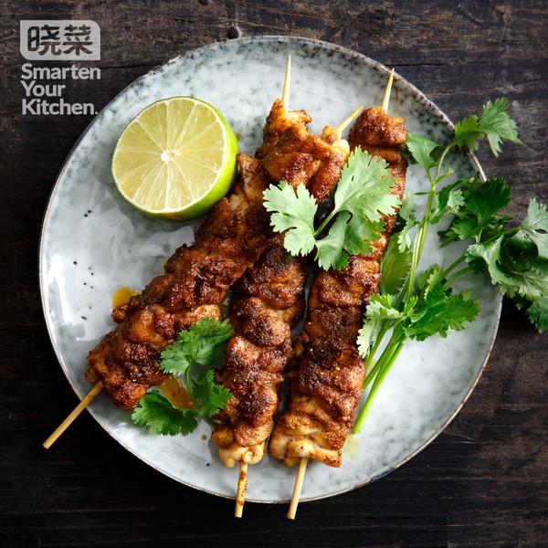 香煎鸡腿肉串