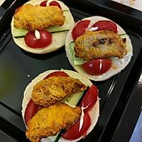 #丘比三明治#鸡肉汉堡的做法图解8