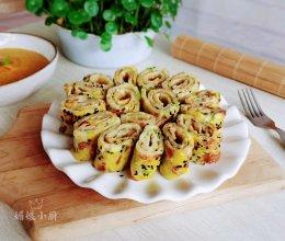 #四季宝蓝小罐#花生酱鸡蛋早餐饼的做法