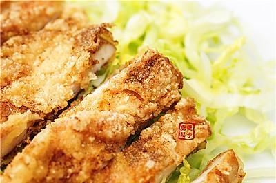 【曼步厨房】简单快手美味 - 鸡排巨无霸