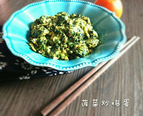 儿童辅食~菠菜炒鸡蛋的做法
