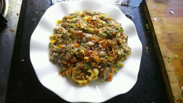 香芹胡萝卜香菇炒海蛎