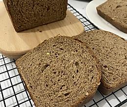 #橄榄中国味 感恩添美味#黑全麦果干吐司面包的做法