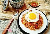 泡菜培根炒饭&昆布汤#丘比沙拉汁#的做法