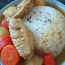 红萝卜土豆洋葱咖喱鸡翅