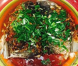 蒜椒鱼头的做法