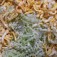 凉拌菜——大白菜鸡蛋的做法图解2
