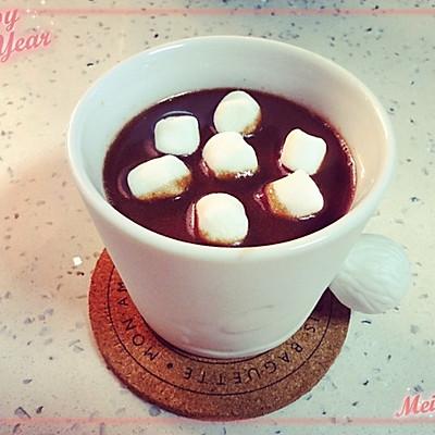 冬日里来杯热可可最有爱啦---棉花糖版