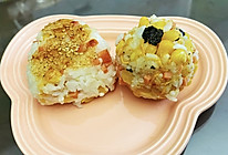 #夏日消暑,非它莫属#剩米饭变身日式肉松玉米小饭团的做法