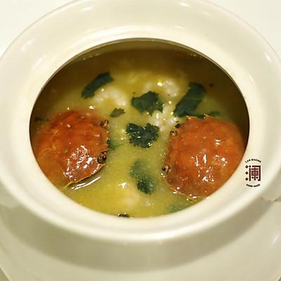 餐桌常有黄金蟹之蟹黄海鲜粥