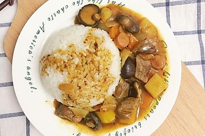 和风咖喱牛肉饭#好侍百梦多咖喱#
