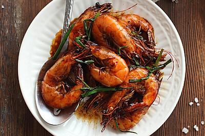 葱香红汁虾