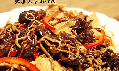 薇菜木耳小炒肉的做法