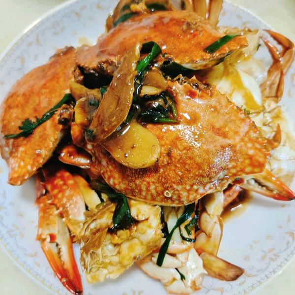 家常姜葱炒蟹的做法
