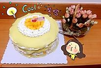 芒果千层蛋糕(8寸)的做法