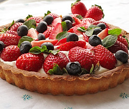 奶油草莓塔的做法