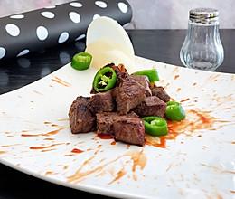 香煎黑胡椒牛肉粒的做法