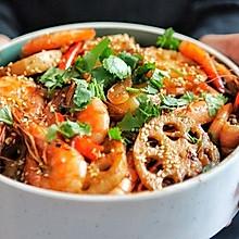 简易版干锅虾~食材可以自由搭配