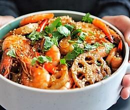 简易版干锅虾~食材可以自由搭配的做法