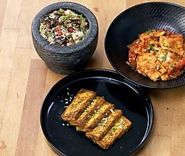 3个豆腐下饭菜(咖喱豆腐+茄汁豆腐+擂辣椒皮蛋豆腐)的做法
