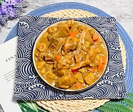 土豆栗子胡萝卜洋葱咖喱鸡的做法