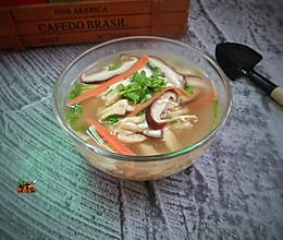 香菇鸡丝豆腐汤#雀巢营养早餐#的做法