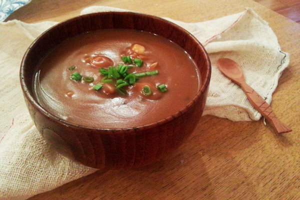 陕西特色小吃——豆面糊的做法